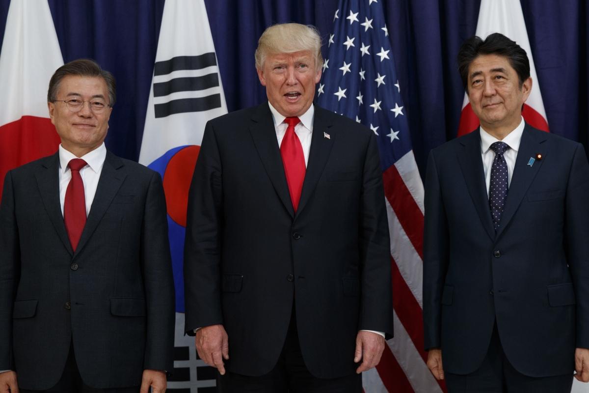 特朗普願出面調停日韓矛盾關係。AP圖