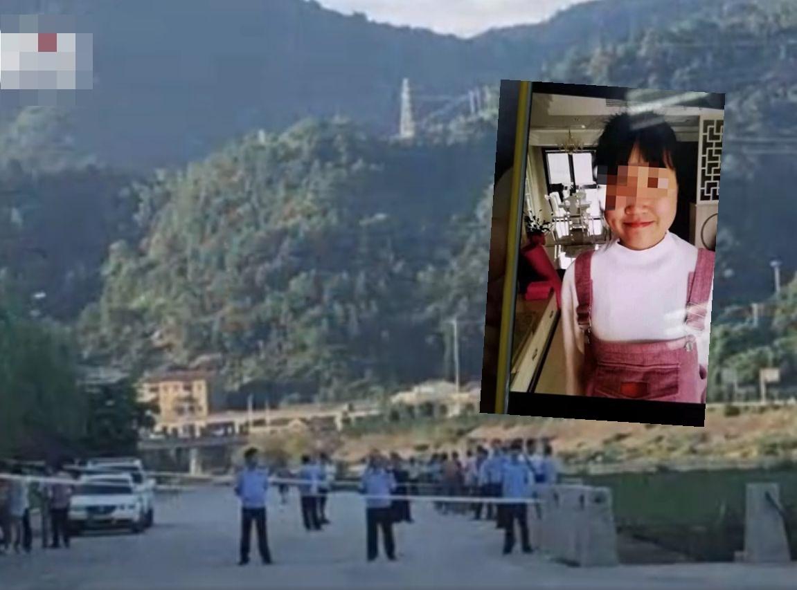 青田縣公安局發通報,指已在江中尋獲少女的屍體。網圖
