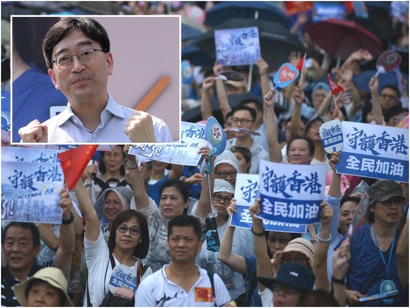 高永文(小圖)呼籲社會反對暴力。