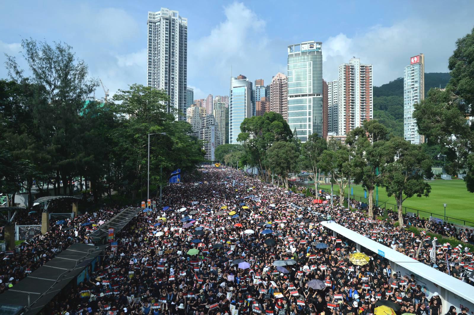 港島區周日會有大型遊行。資料圖片