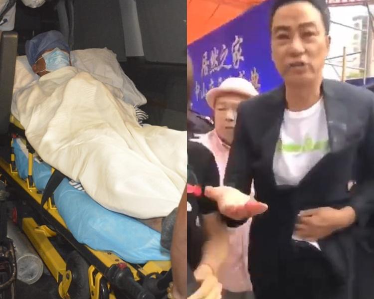 華哥遇襲當場右手刀傷沾滿血,為保神經線接駁沒問題,今早再進行手術檢視,並已順利完成。