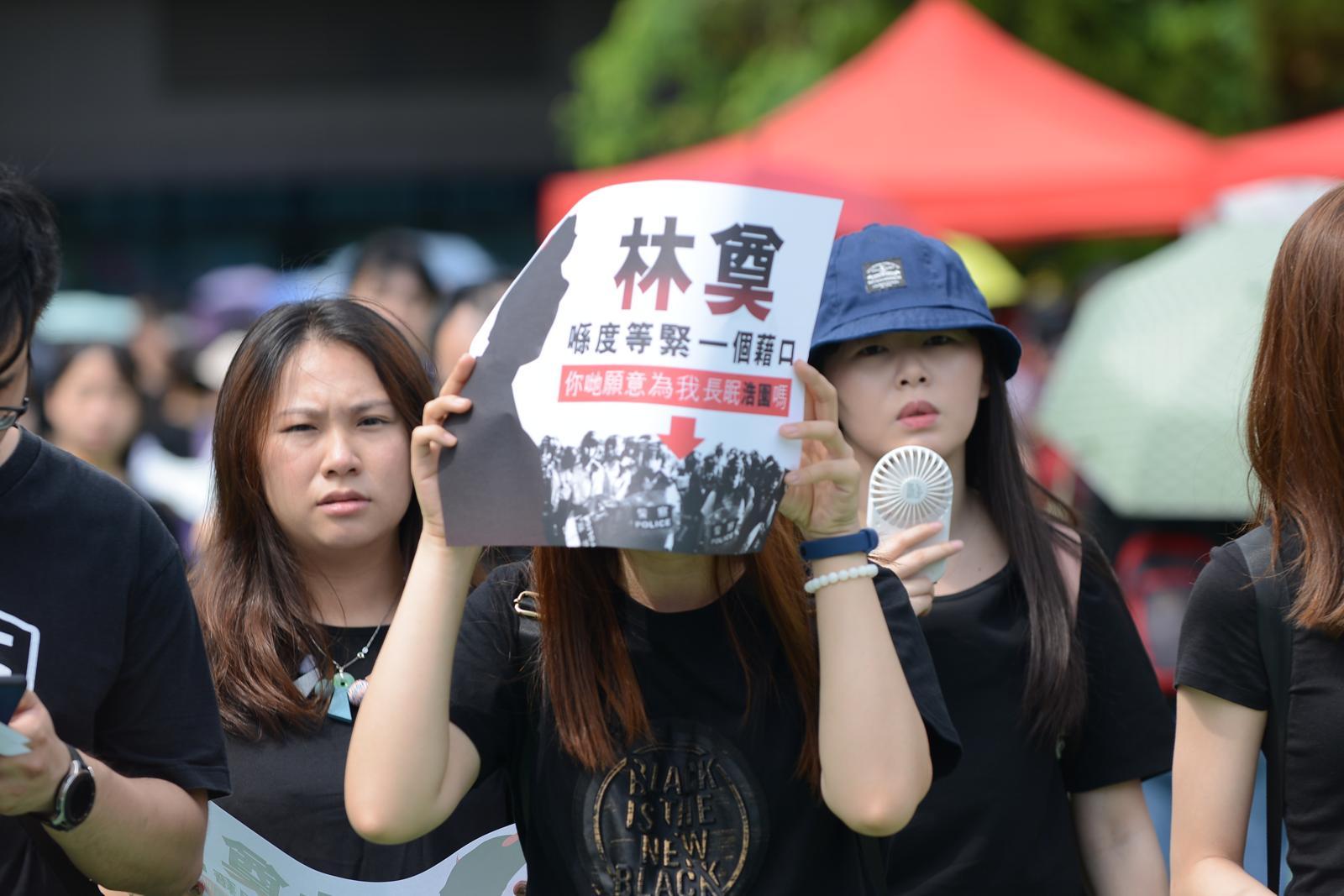 民陣批評港府「身在福中不知福」,抹黑示威者為暴徒。