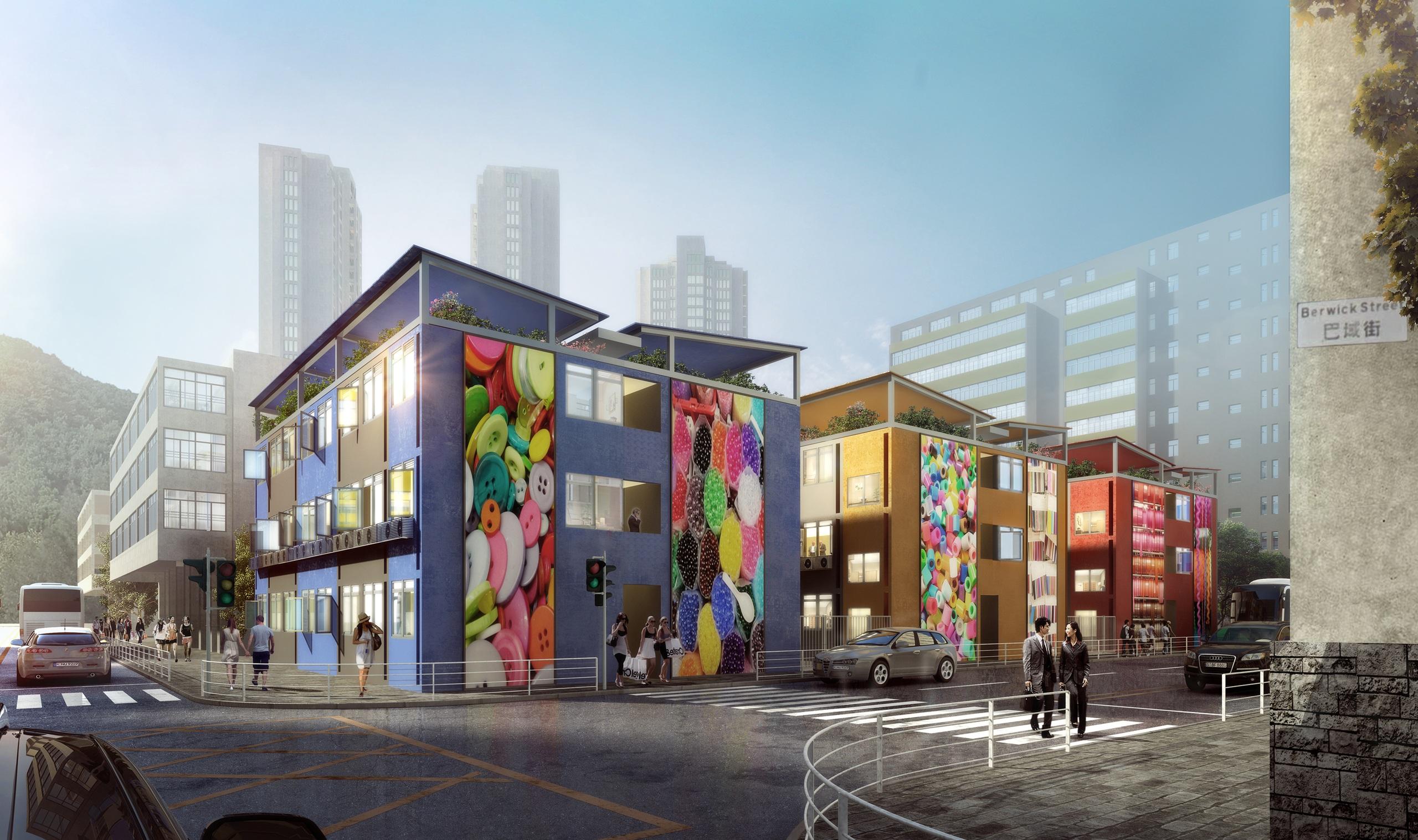 社聯南昌街項目概念圖。