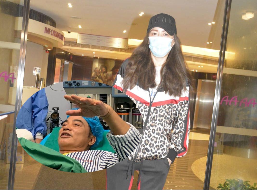 琦琦透露老公手術好順利。