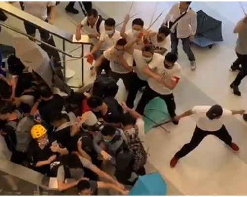 【元朗暴力】西鐵站封站 多位市民報警未能接通