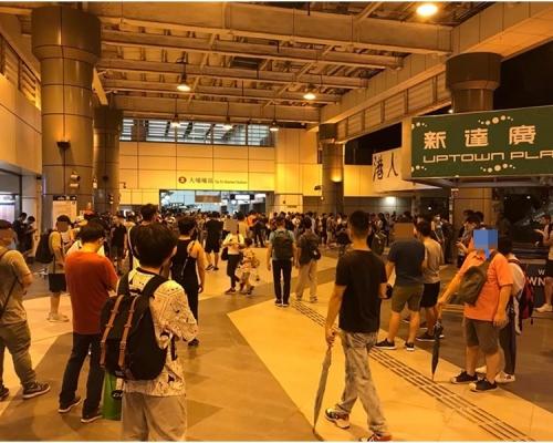 【元朗暴力】傳白衣人轉戰大埔 逾百市民聚集火車站