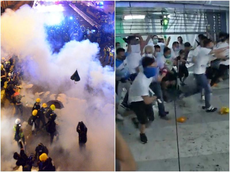 警方今日凌晨發表聲明,指嚴厲譴責暴力行為。
