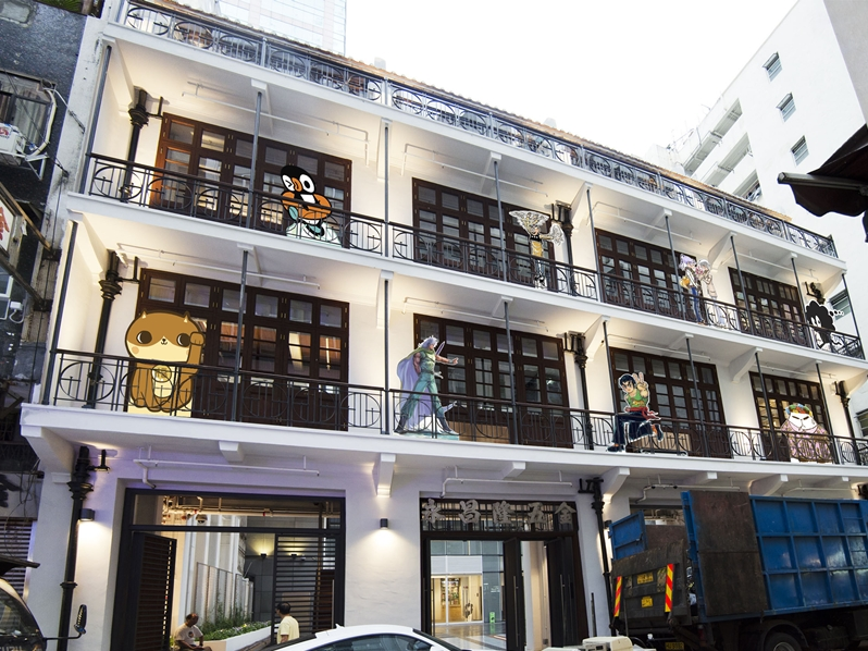 「設計光譜」選址在歷史悠久並富有建築特色的創意地標「茂蘿街七號」。