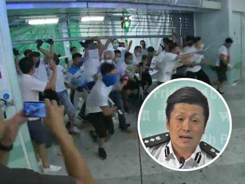 警察公共關係科總警司謝振中形容襲擊事件是無法無天,公然挑戰香港法治。