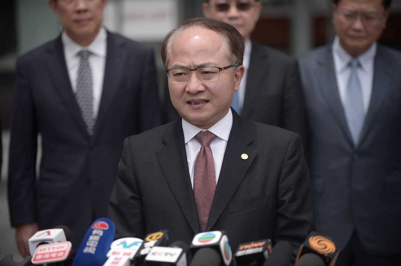 王志民批評示威者侮辱國家主權及安全,行徑十分惡劣,性質嚴重。