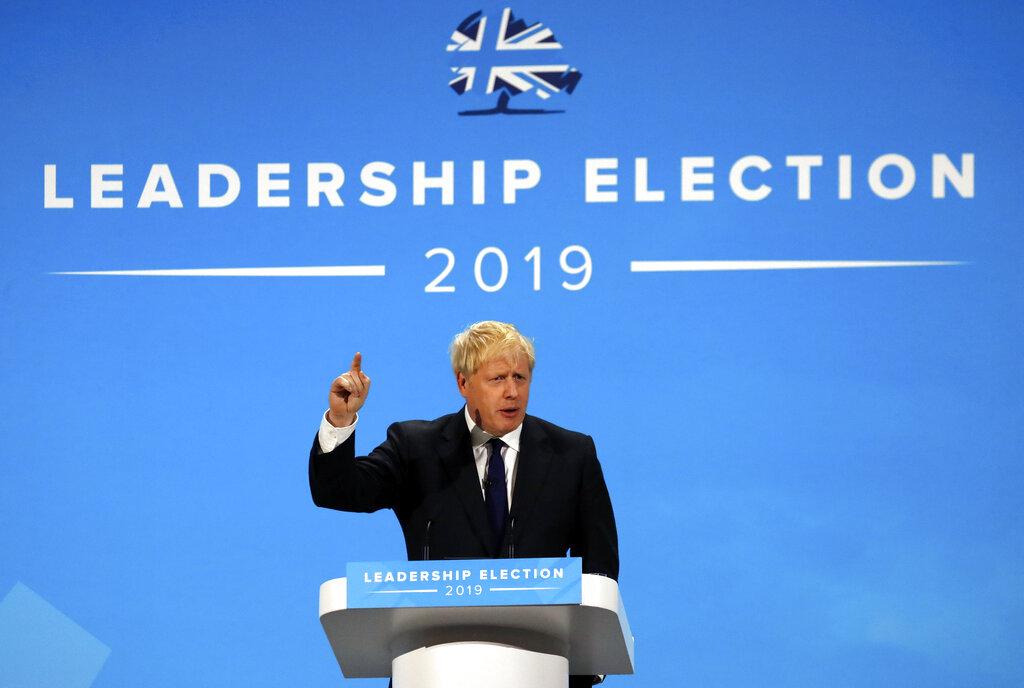 英國下任首相候選人約翰遜。AP圖片