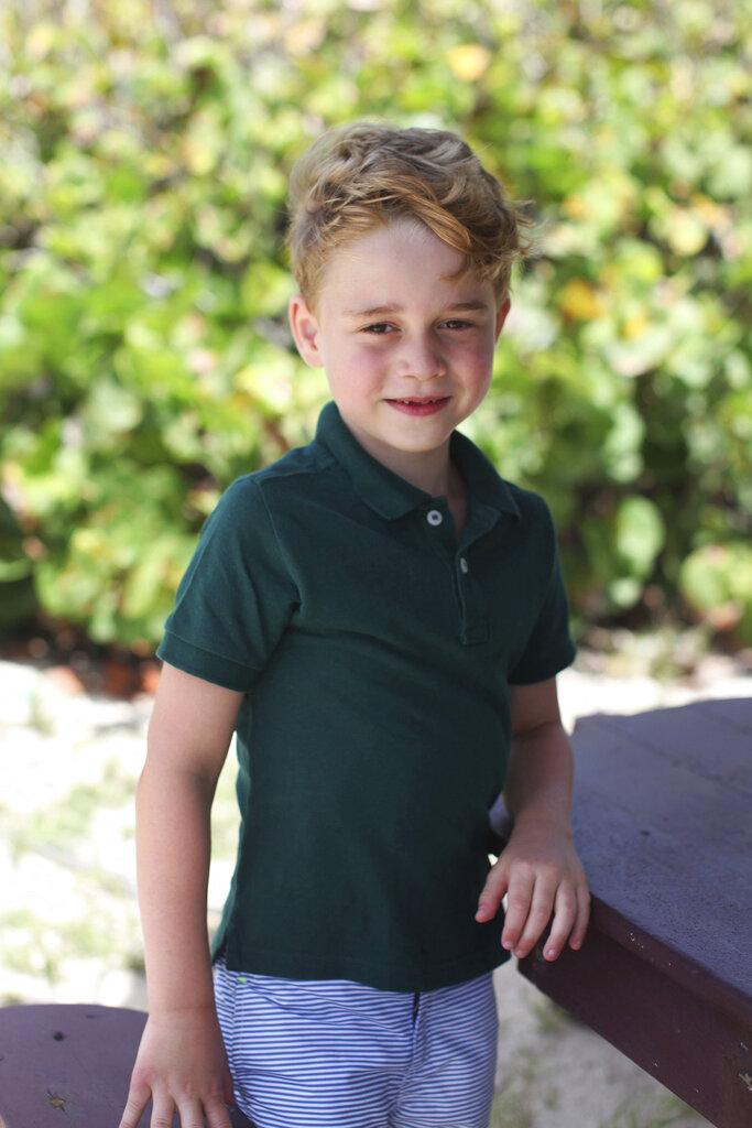 喬治6歲生日照。AP圖片