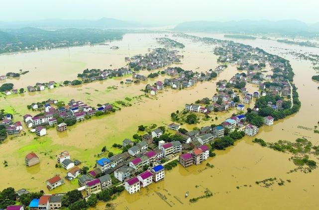 湖南衡東縣發生嚴重水災。網圖