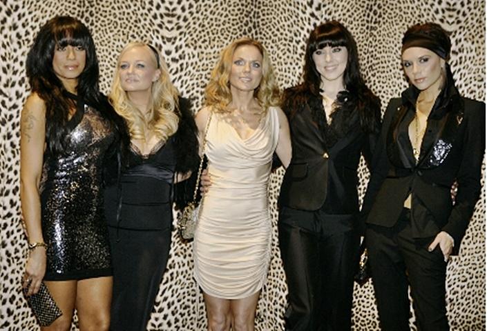 Spice Girls重組,獨欠碧咸嫂Victoria沒有歸隊。AP資料圖片