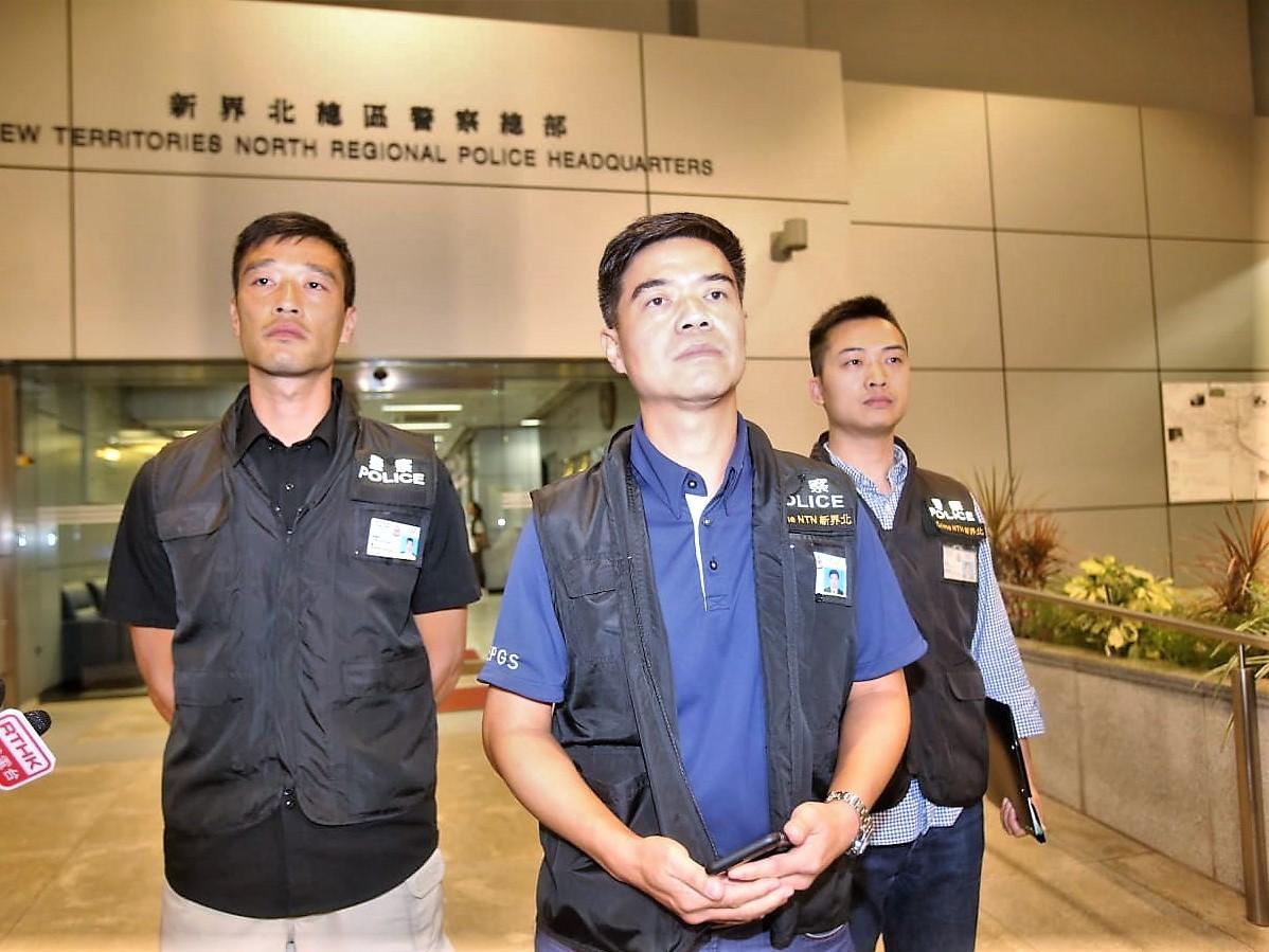 新界北總區刑事高級警司陳天柱重申警方不容忍任何暴力行為。