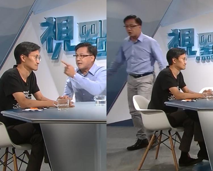 何君堯斥朱凱廸是「人渣」。  香港電台視點31 FB截圖