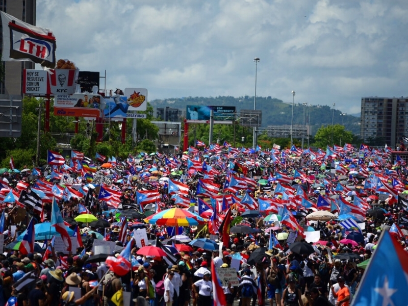 美屬波多黎各爆發當地歷來最大型的反政府示威,要求總督即時下台。AP