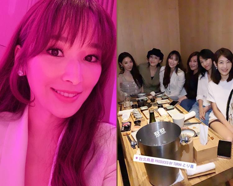 吳佩慈日前在台北跟好姊妹飯聚,被指已懷胎4個月。(ig圖片)