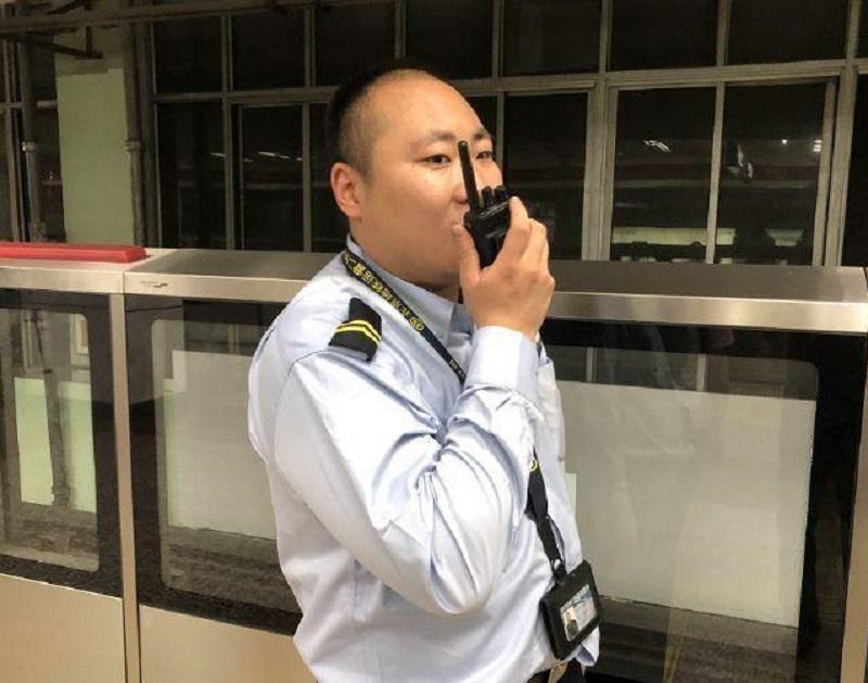 北京地鐵四惠站站長付昊天。網上圖片