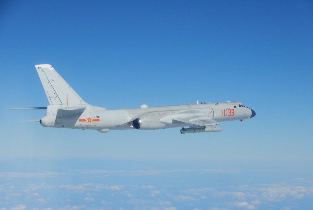 大陸轟六轟炸機。台灣國防部圖片