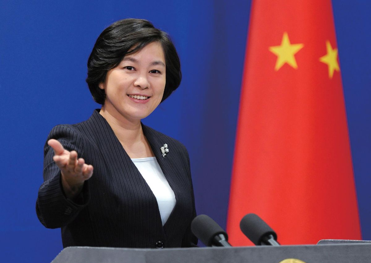 華春瑩成為內地改革開放以來,外交部新聞司首位女性正司長。網上圖片