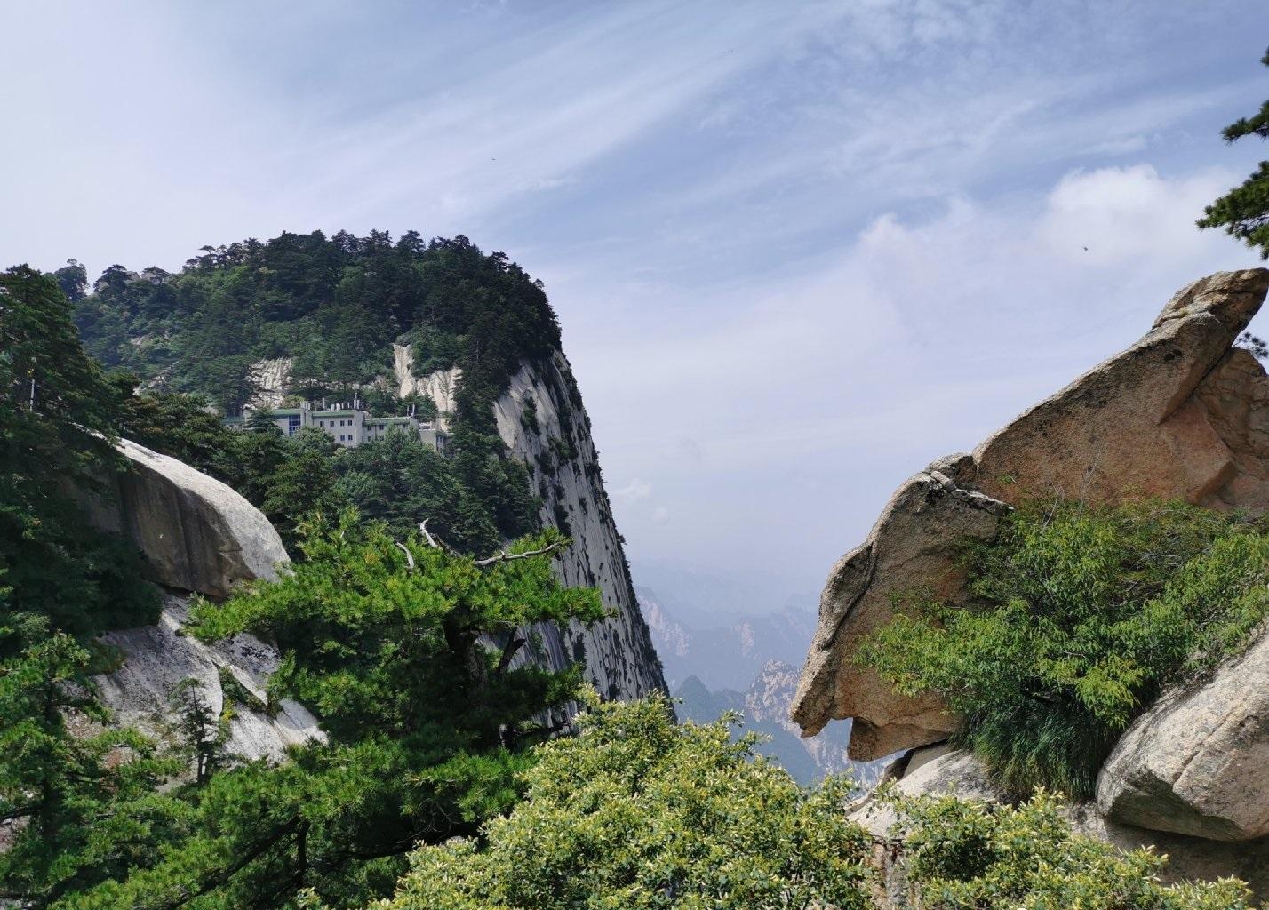 陝西華山。網上圖片