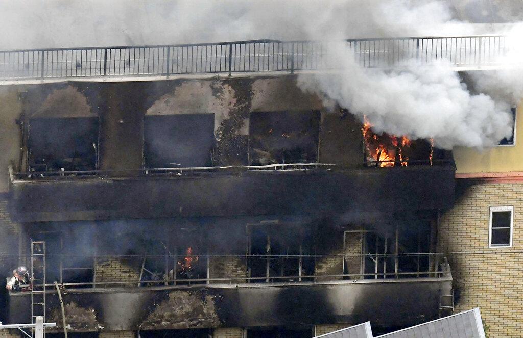 京都動畫火災釀成34死35傷。AP圖