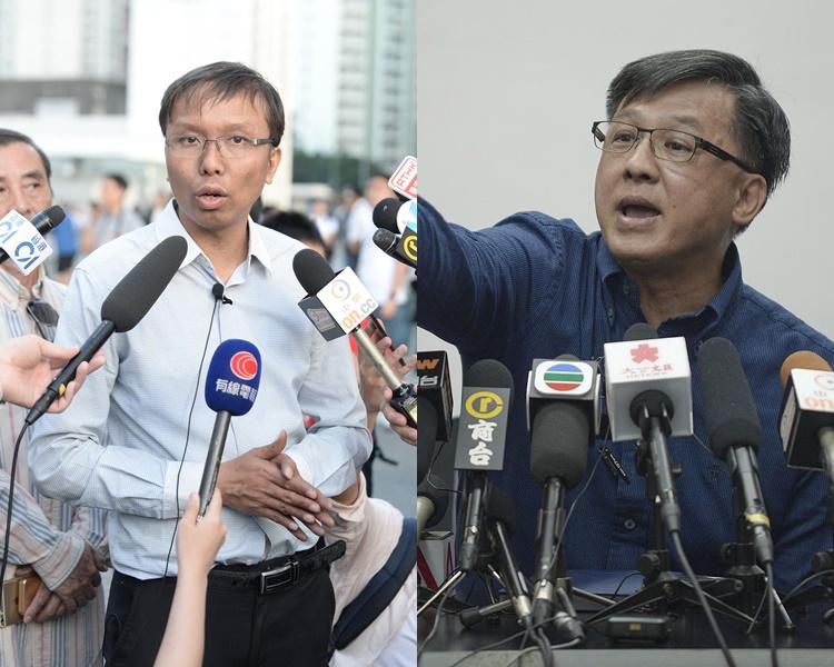 譚凱邦否認煽惑示威者破壞議何君堯的議員辦事處。資料圖片