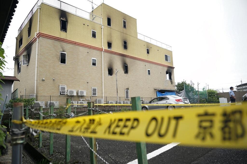 日本京阿尼縱火案共計造成34人死亡。AP圖片