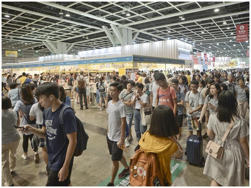 貿發局指書展仍有近百萬人入場。