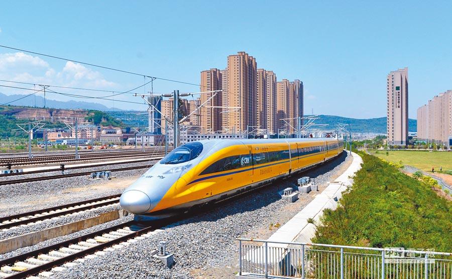 圖為高鐵列車。新華社