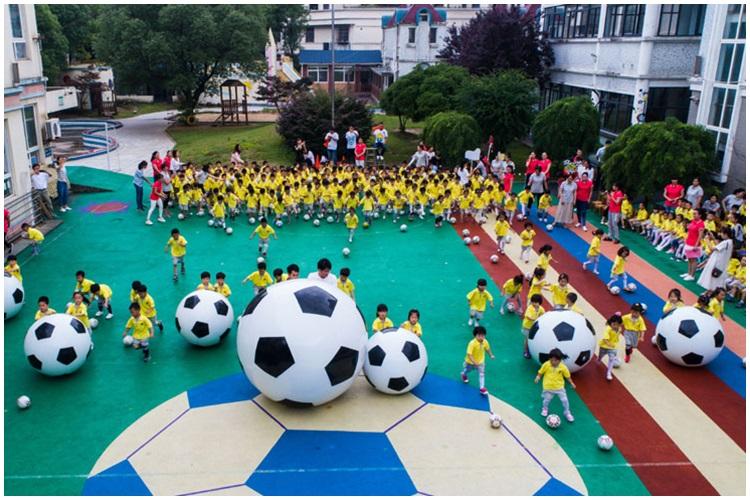 為實現足球強國,中擬建3000所足球幼稚園。新華社
