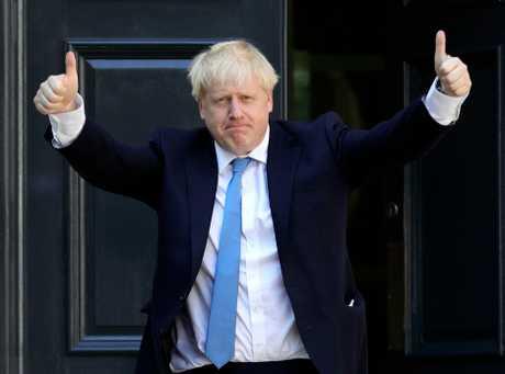 英國保守黨新任黨魁約翰遜。AP