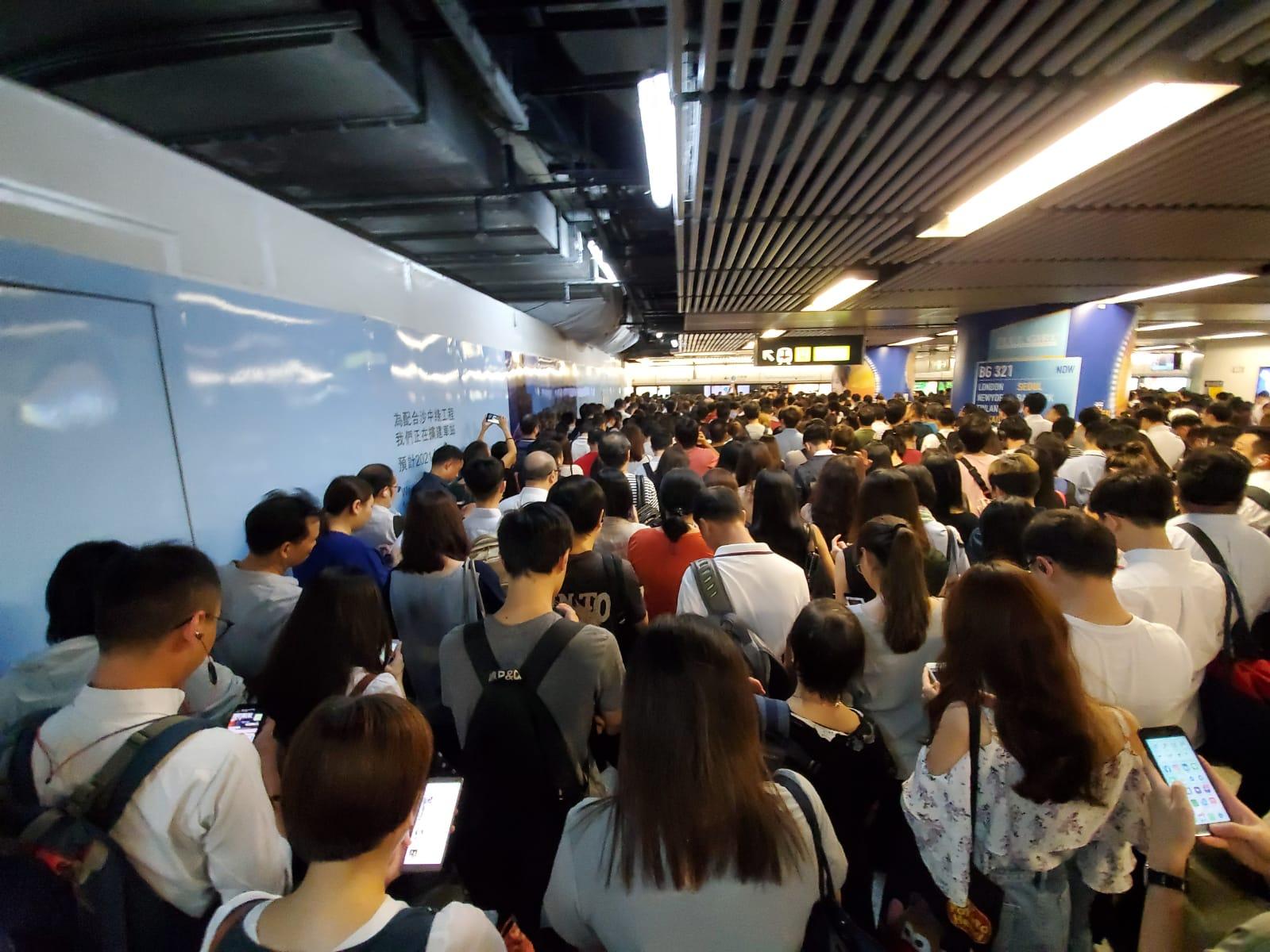 網民發不合作運動圖癱瘓金鐘站。