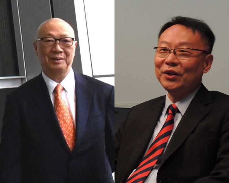 顧明均(左)申請禁制令禁陳之望(右)盗用其公司名字作任何用途。資料圖片