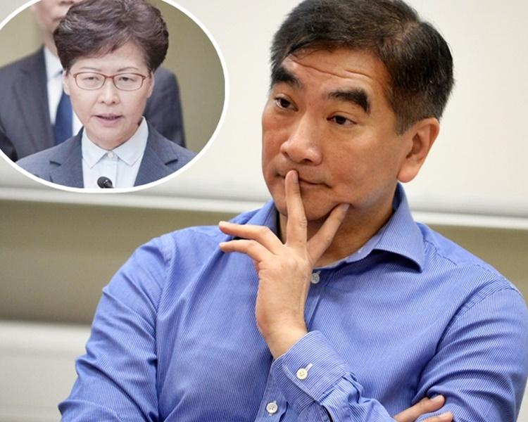 鍾國斌指林鄭月娥(小圖)若無精神去做便應離開,否則永遠對不起香港。 資料圖片