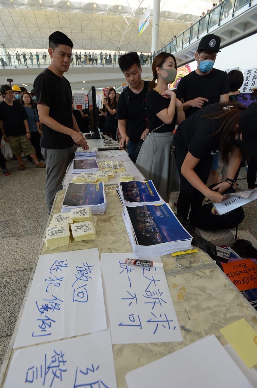 為方便遊客,傳單印成多種語言。