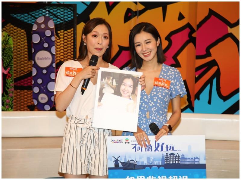 馮盈盈(左)話收視過50點就結婚生仔。