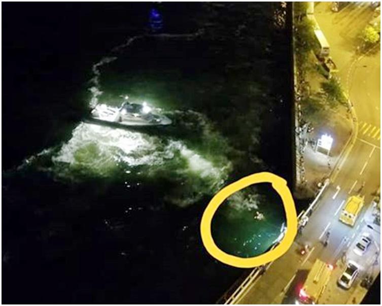 事主被發現在海面漂浮。fb「西環變幻時」Aline Chik圖片