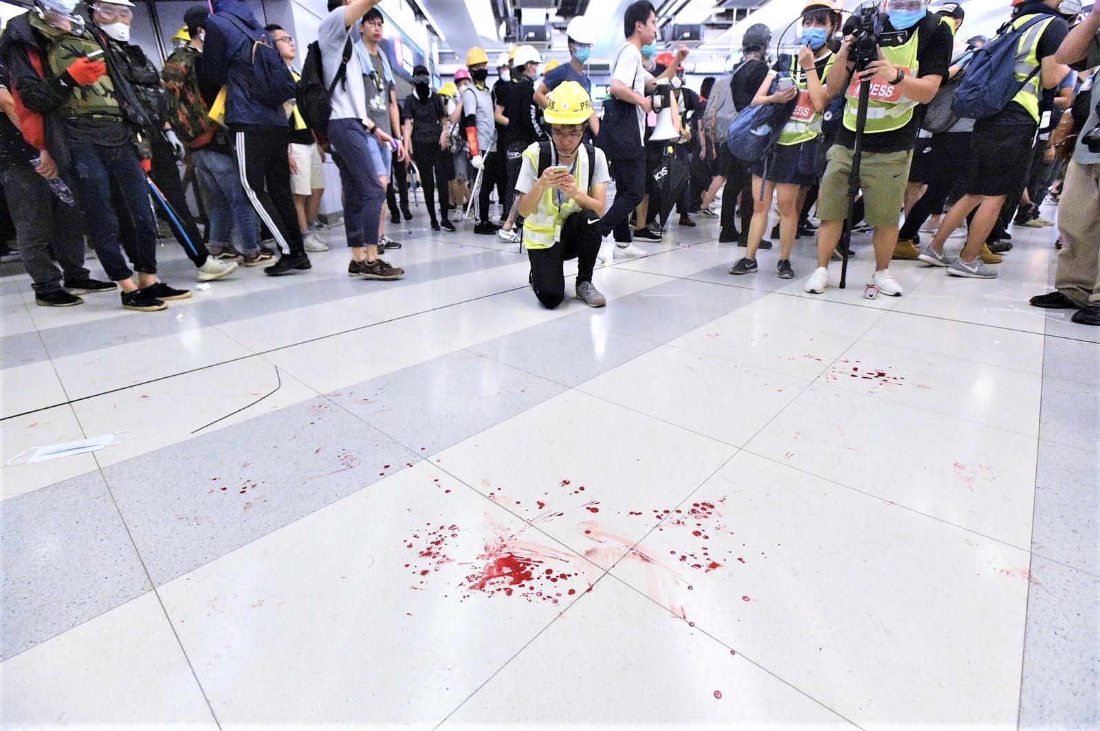 元朗衝突受傷人數增至23人 。