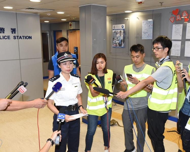 警方講述驅散行動。