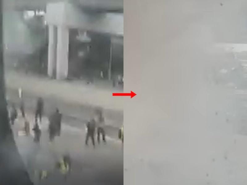 催淚彈疑波及安老院。影片截圖