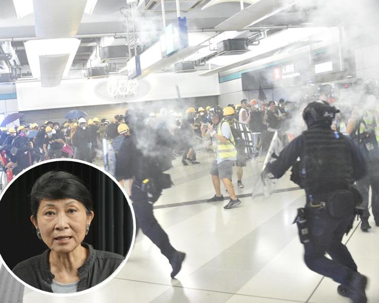 毛孟靜形容元朗昨日變成警方發洩的「私人野戰場」。