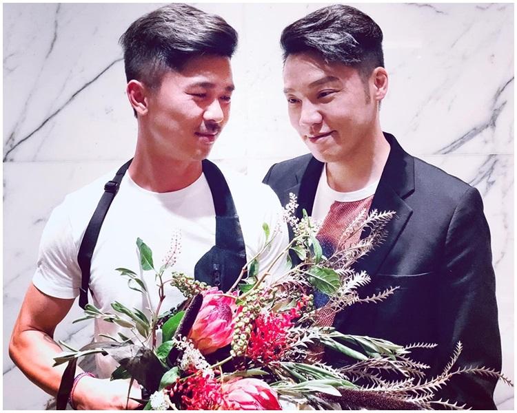 王賢誌與伴侶周思聰慶祝3周年結婚紀念日。FB圖