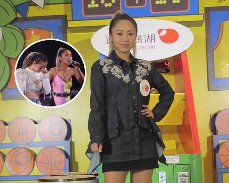 鄭融謂當日在台上見到Sammi的表現,覺得驚喜又愕然。