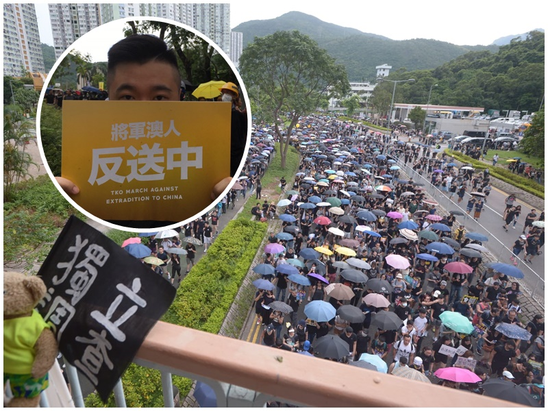楊先生(小圖)指對政府回應訴求欠信心。