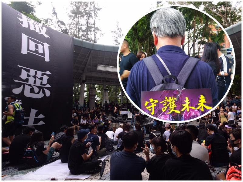 李先生(小圖)指元朗白衣人事件後,認同勇武派想法。