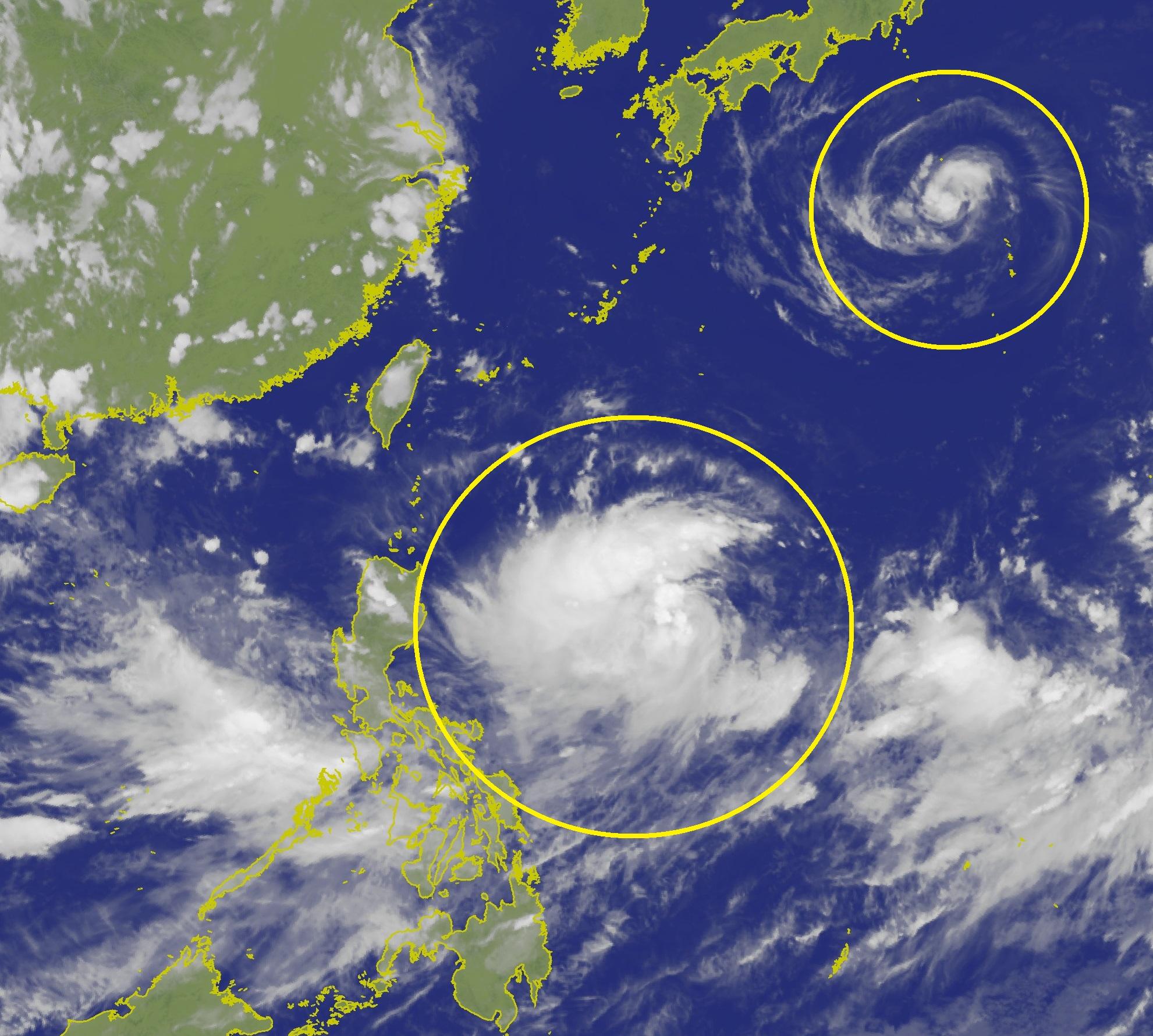 西北太平洋再有兩個風暴形成,分別是強烈熱帶風暴「范斯高」及熱帶風暴「利奇馬」
