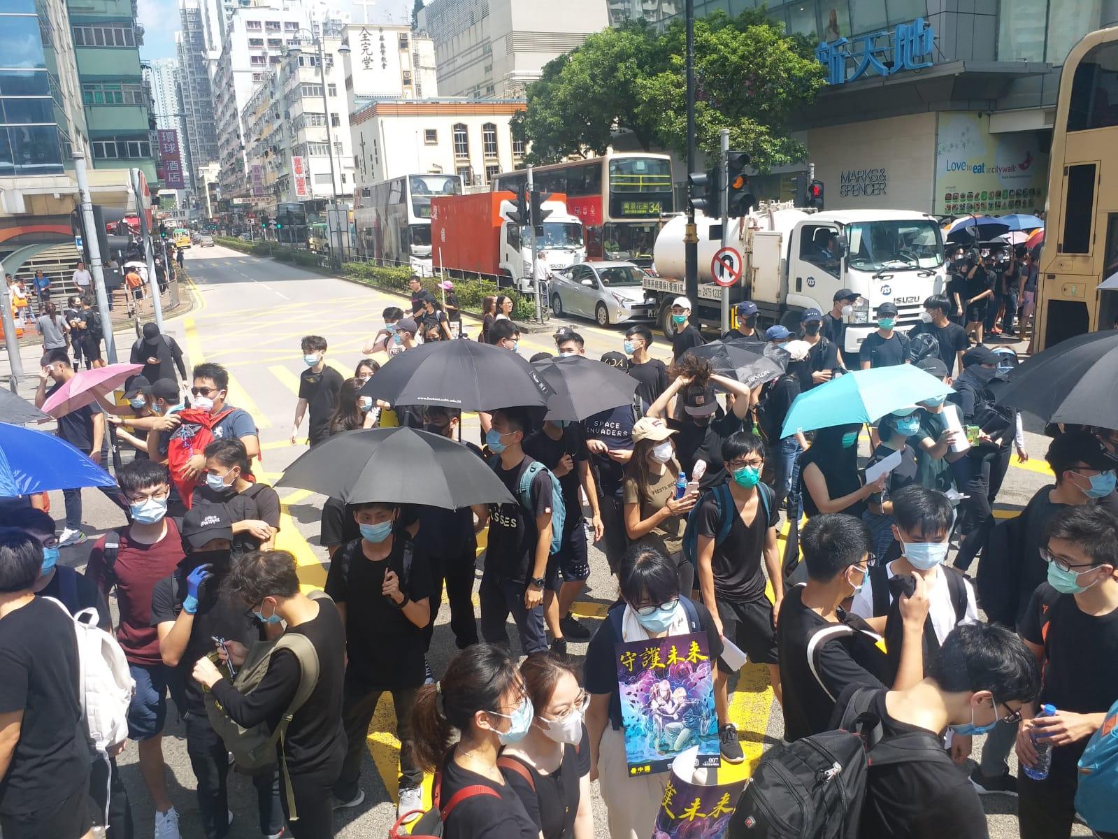 示威者其後轉移到沙咀道