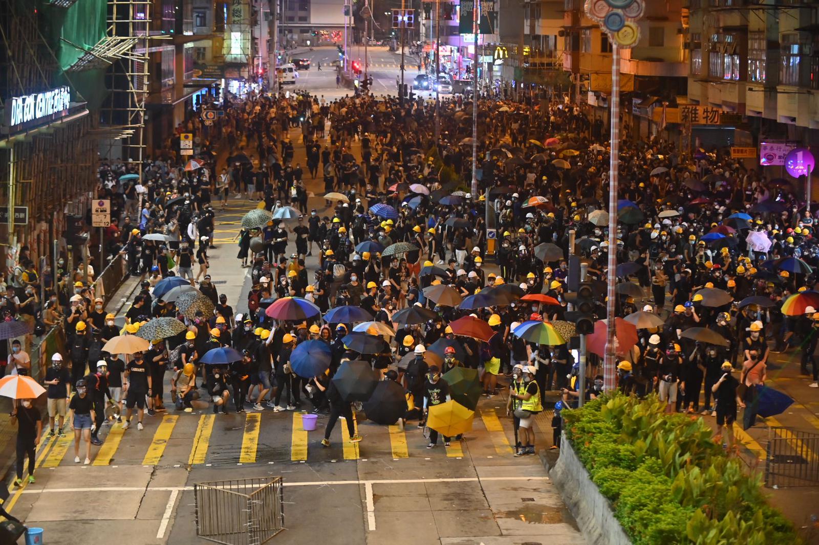 示威者未有散去